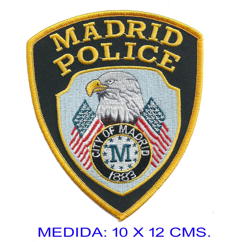 ac74b0ecb Emblema Policía Madrid Escudo bordado - Insignia Online