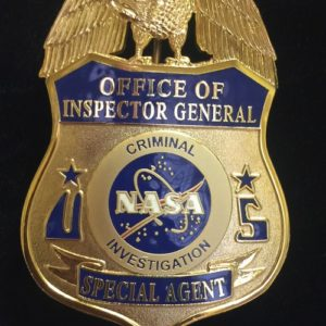 NASA CRIMINAL INVESTIGATION BADGE
