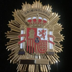 PLACA CRIMINÓLOGO