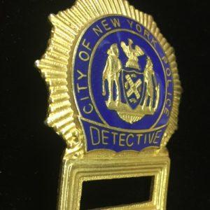 PLACA DETECTIVE POLICIA NUEVA YORK ATREZZO