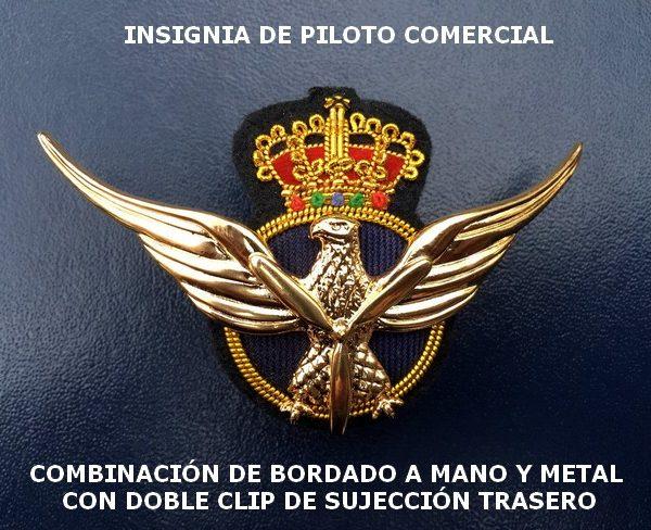 Alas de Piloto Comercial Metálicas