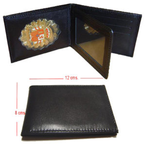 PLACA DETECTIVE PRIVADO CARTERA PIEL