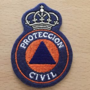 EMBLEMA BORDADO DE PROTECCION CIVIL