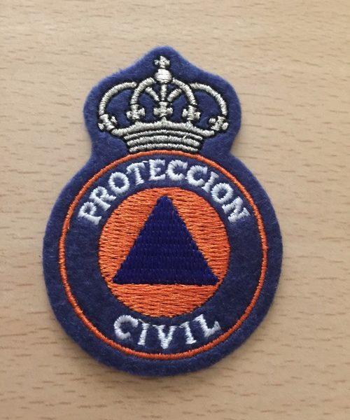 EMBLEMA BORDADO DE PROTECCION CIVIL