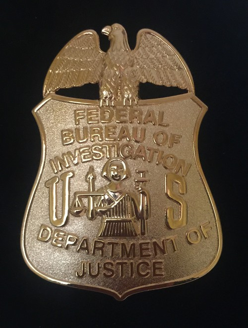 placa fbi agencia federal