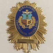 PLACA DE LA POLICÍA LOCAL DE BARAKALDO VIZCAYA