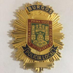 PLACA DE LA POLICÍA LOCAL DE BURGOS