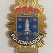 PLACA DE LA POLICÍA LOCAL DE LA CORUÑA
