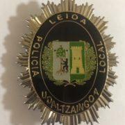 Placa de la Policía Local de Leioa Vizcaya
