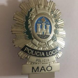 Placa de la Policía Local de Maó – Mahón, Menorca, Baleares