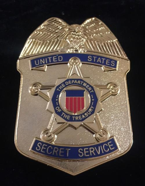 Placa Servicio Secreto Estados Unidos