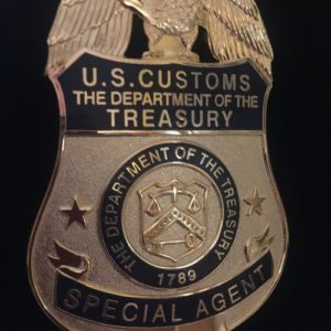 us customs the department of the treasury badge