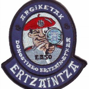 Emblema atestados de tráfico de la Ertzaintza de San Sebastian