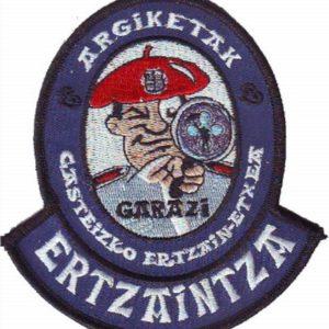 Emblema bordado de la unidad de atestados de tráfico de la Ertzaintza de Vitoria Alava