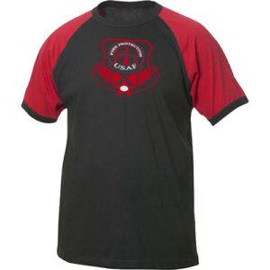 Camiseta Bomberos Fuerzas Aéreas. Camiseta de Bomberos de las Fuerzas Aéreas de los Estados Unidos. Camiseta cómoda y agradable