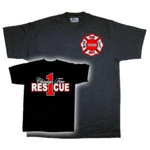 Camiseta Bomberos Chicago Estados Unidos. Camiseta del Cuerpo de Bomberos de la ciudad de Chicago, Illinois, Estados Unidos.