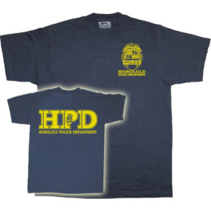 Camiseta Policía Honolulu. Camiseta del Departamento de Policía de Honolulu, Hawái, Estados Unidos (Honolulu Police Department HPD)
