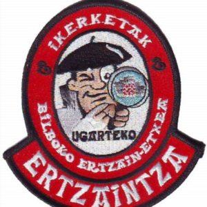 Emblema bordado de la unidad de investigación de la ertzaintza de Bilbao