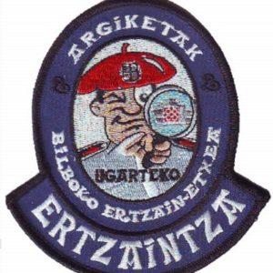 Emblema unidad Atestados de Tráfico de  ertzaintza Bilbao