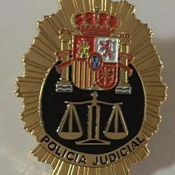 Insignia de solapa de la Policía Judicial de España.