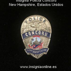 Insignia Policía Concord New Hampshire, Estados Unidos