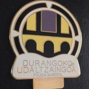 Antigua placa de identificación profesional de la policía municipal de Durango, Vizcaya