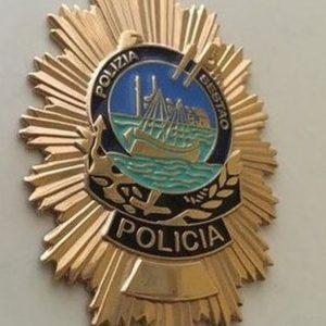 Placa de la policía local de Sestao- Vizcaya