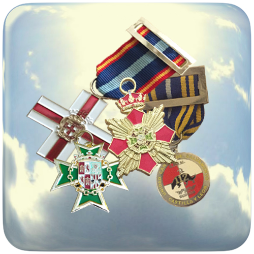 Fabricación de condecoraciones y medallas, civiles y militares.
