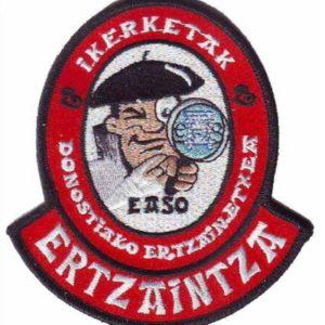 Emblema bordado de la unidad de investigación de la Ertzaintza de San Sebastian