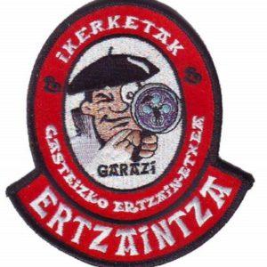 Emblema bordado unidad de investigación de la ertzaintza de Vitoria Alava