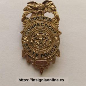 Connecticut State Police Minibadge. Insignia de la policía del Estado de Connecticut (Estados Unidos).