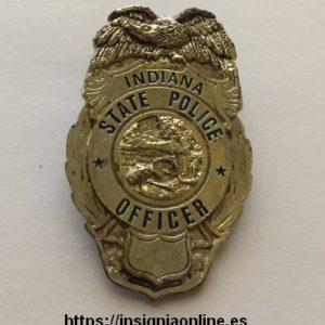 Indiana State Police Minibadge. Insignia de la policía del Estado de Indiana