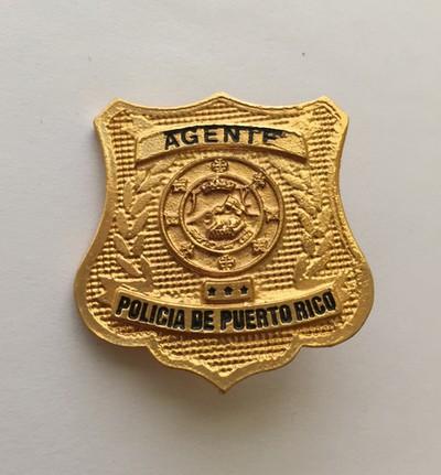 Insignia de la Policía de Puerto Rico. Puerto Rico Police Minibadge.