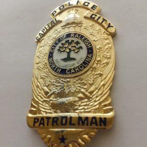 CITY OF RALEIGH NORTH CAROLINA POLICE BADGE