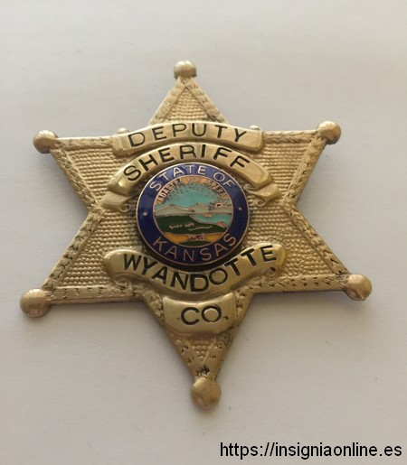 Kansas deputy Sheriff Badge. Placa de Sheriff del Kansas.