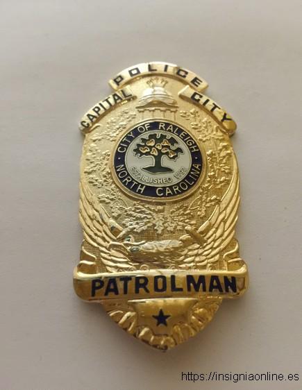 Raleigh North Carolina, police badge