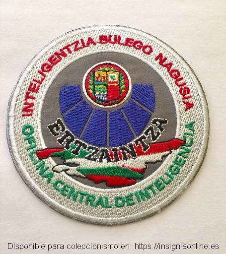 Emblema bordado de la Oficina Central de Inteligencia de la Ertzaintza