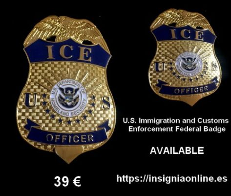 US Immigration Customs Enforcement Badge