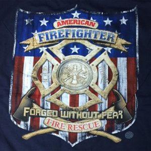 Detalle trasero camiseta bomberos america