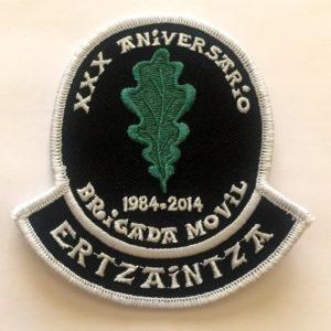 Emblema Brigada Móvil Ertzaintza 30 aniversario