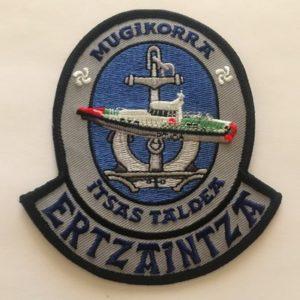Emblema Salvamento marítimo Ertzaintza