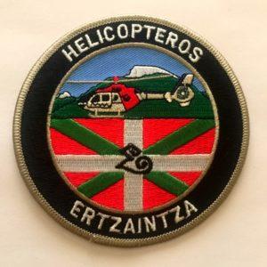 Escudo bordado helicópteros ertzaintza