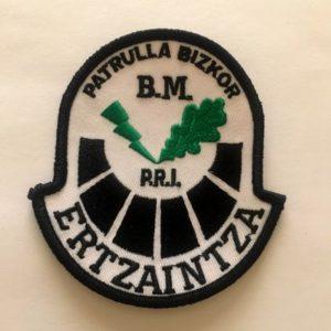 Emblema Ertzaintza Patrulla Bizkor Brigada Móvil