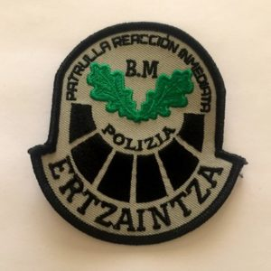Emblema Patrulla Reacción Inmediata Ertzaintza