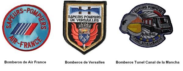 Escudos bomberos representativos Francia