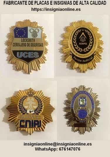 Placas insignias profesionales alta calidad