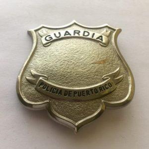 Placa Guardia Policía Puerto Rico