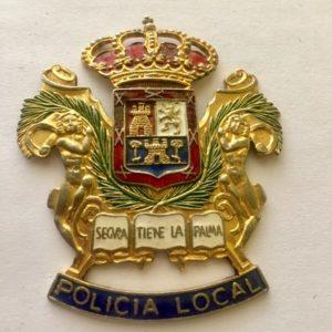 Placa antigua policía local Las palmas