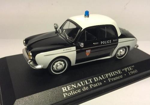 Coche policía Paris renault dauphine 1960